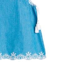 Imagen de Vestido de bebé niña en denim bordado