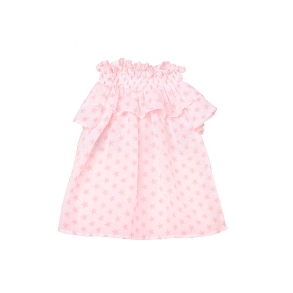 Imagen de Blusa de niña de tirantes con estampado de estrellas