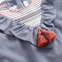 Image de Vestido azul boho con canesu etnico