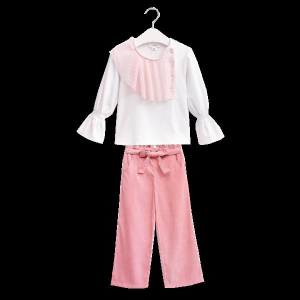 Image de pantalon rosa palazzo