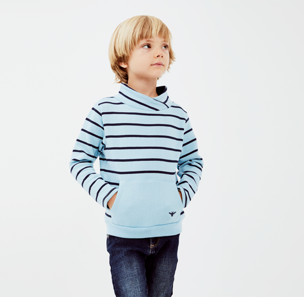 Picture of Sudadera junior rayas turquesa