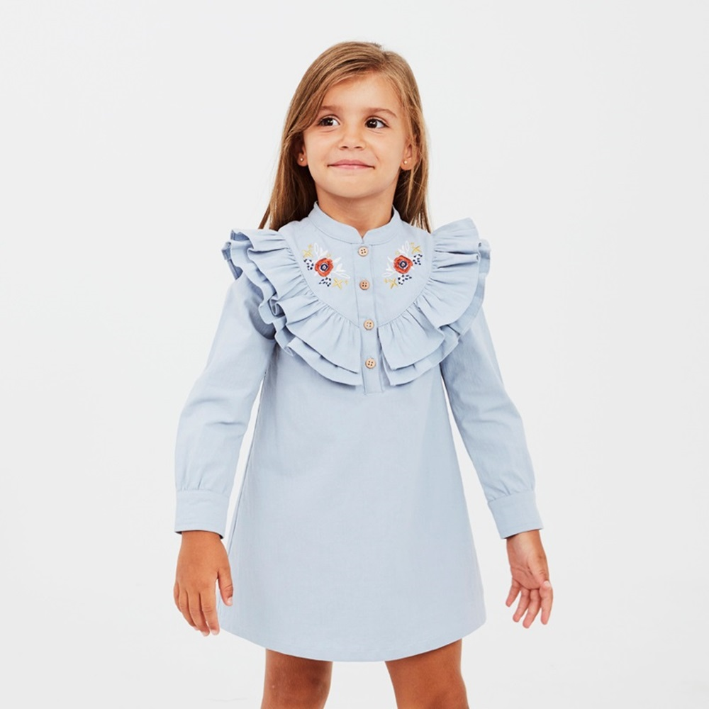 Image de Vestido junior boho azul