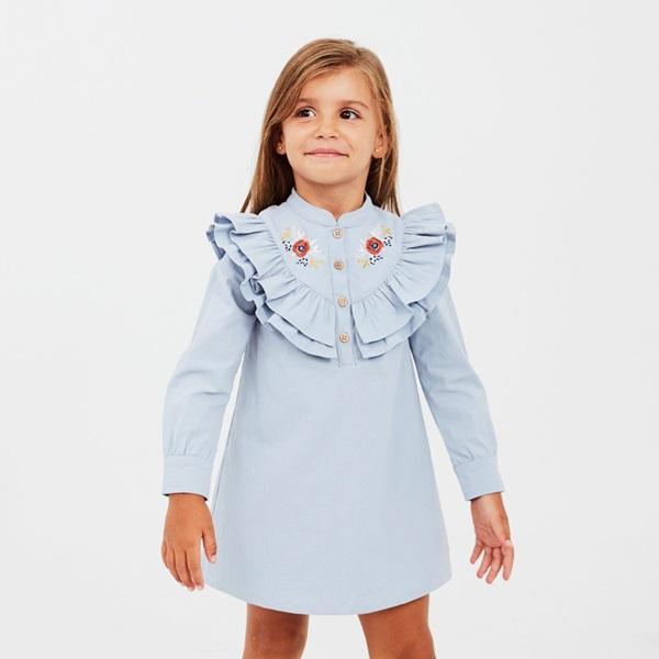 Imagen de Vestido junior boho azul