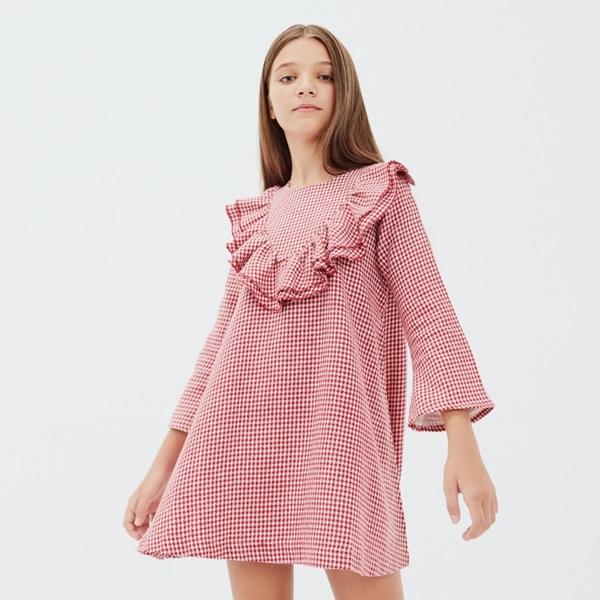 Imagen de Vestido  niña pata de gallo Caperucita
