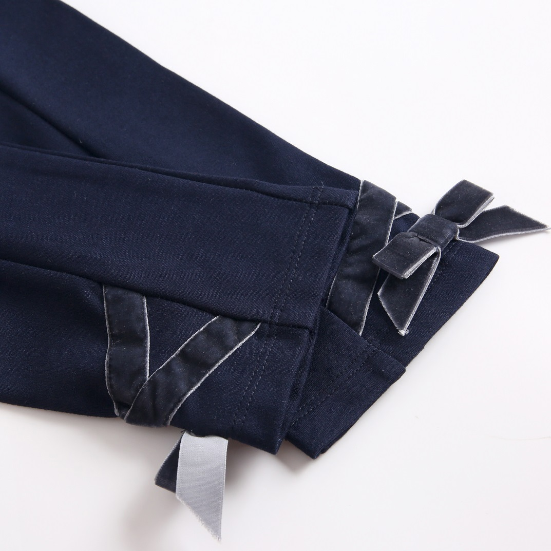 Image sur pantalon marino elastico con lazo terciopelo