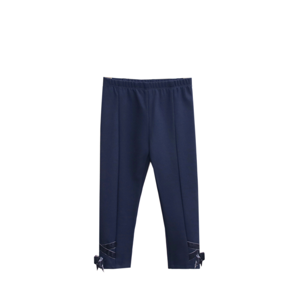 Image de pantalon marino elastico con lazo terciopelo