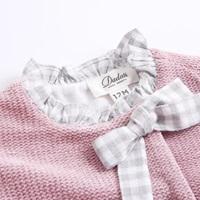 Image de Vestido BB chenilla rosa volantes espalda