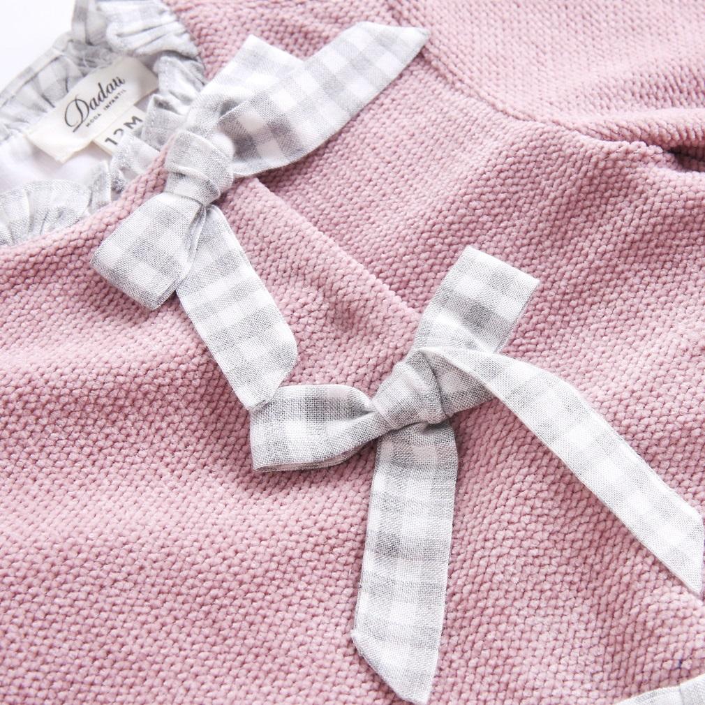 Image sur Vestido BB chenilla rosa volantes espalda