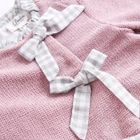 Image de Vestido junior chenilla rosa volantes espalda