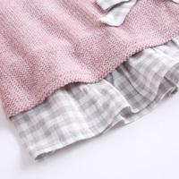 Imagen de Vestido junior chenilla rosa volantes espalda
