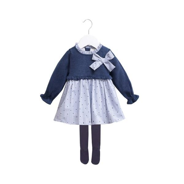 Imagen de vestido combinado punto-camisero
