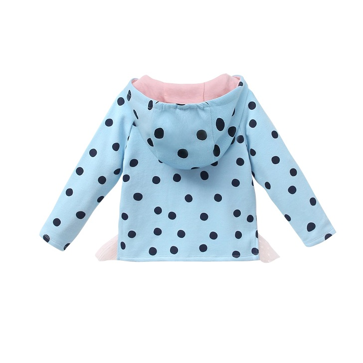 Picture of Sudadera junior topos turquesa