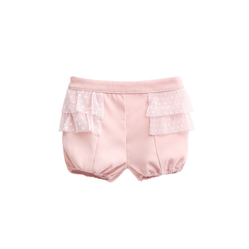 Picture of pololo rosa con volantes de tul plisado