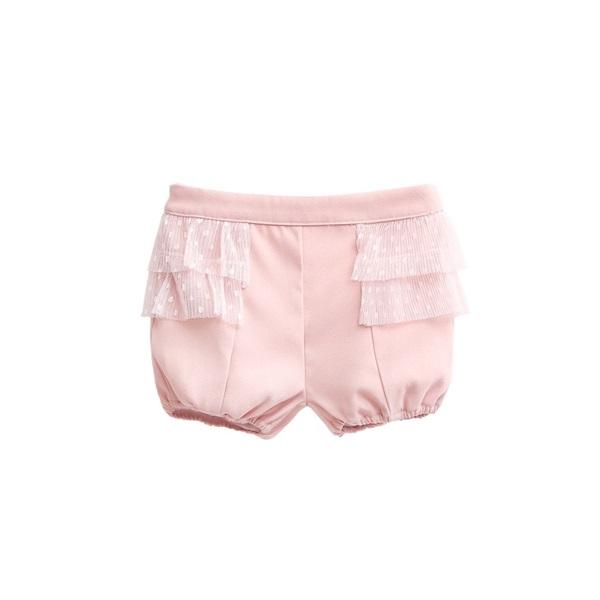 Image de pololo rosa con volantes de tul plisado