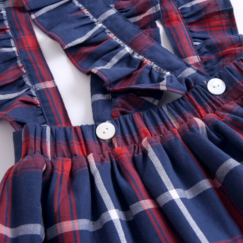 Image sur Falda con tirantes cuadros azules