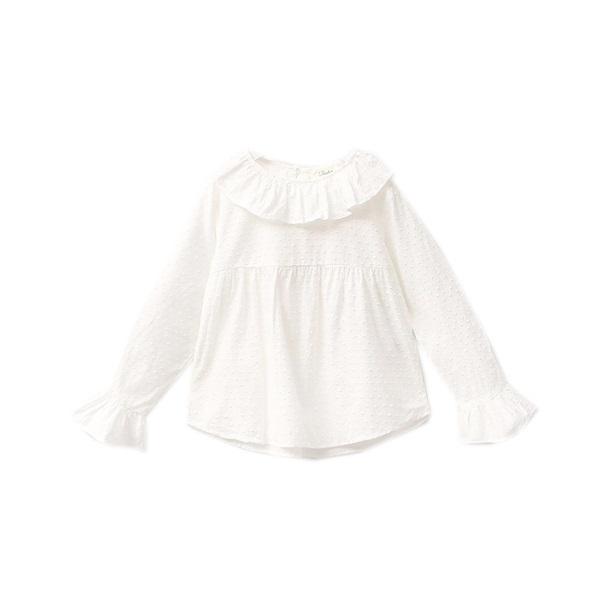 Imagen de camisa de plumeti blanco con cuello volante
