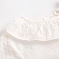Picture of camisa de plumeti blanco con cuello volante