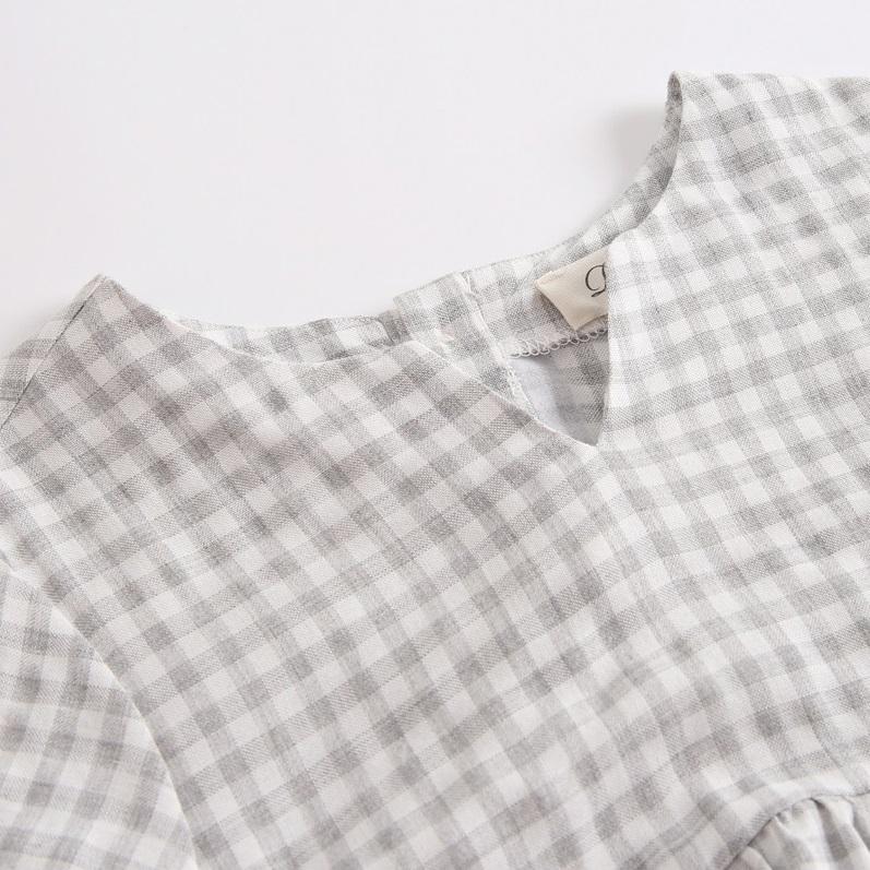 Image sur blusa de vichy gris