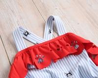 Imagen de Bañador niña de perritos con rayas