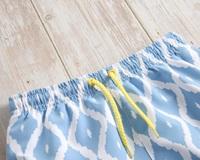 Imagen de Bañador niño azul con estampado de rombos blancos