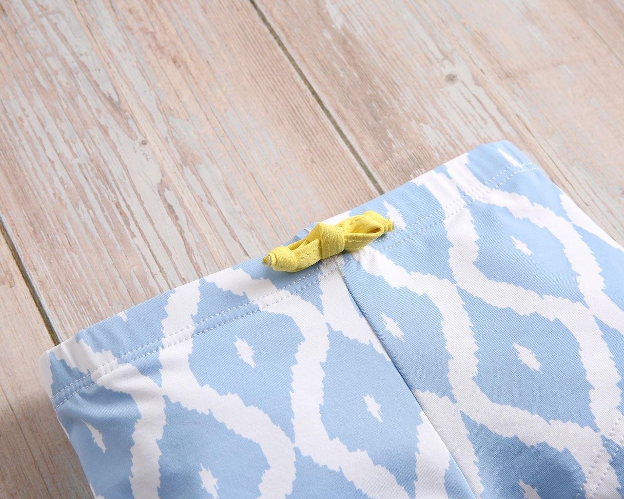 Imagen de Bóxer bebé azul con estampado de rombos blancos