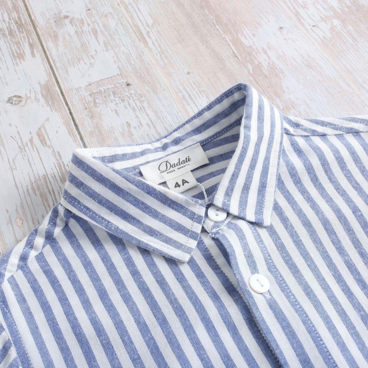 Picture of Camisa niño náutica de rayas azules y blancas