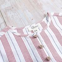 Image de Camisa niño rayas cuello mao