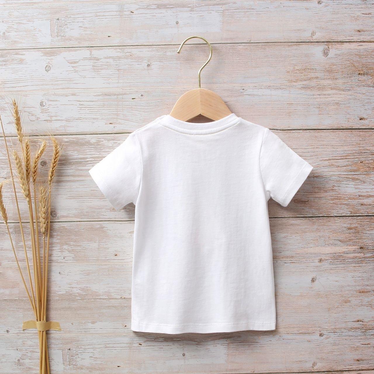 Image sur Camiseta bebé niño blanca con estampado étnico