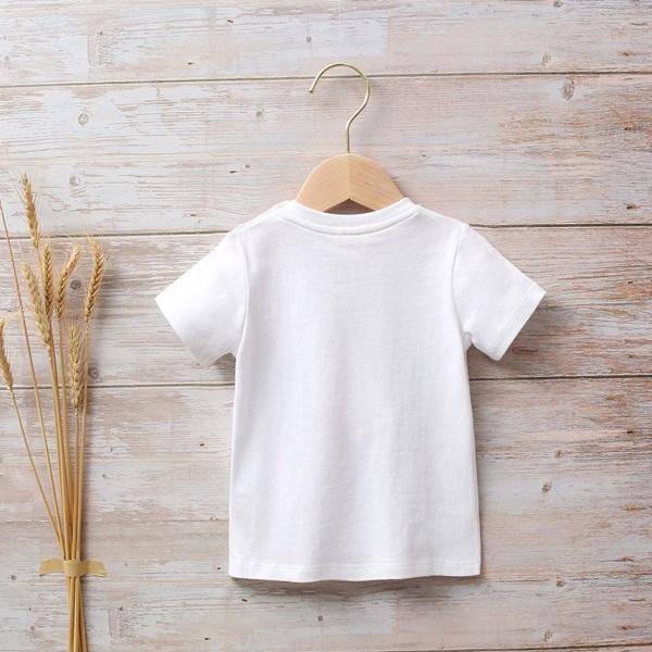 Picture of Camiseta bebé niño blanca con estampado étnico