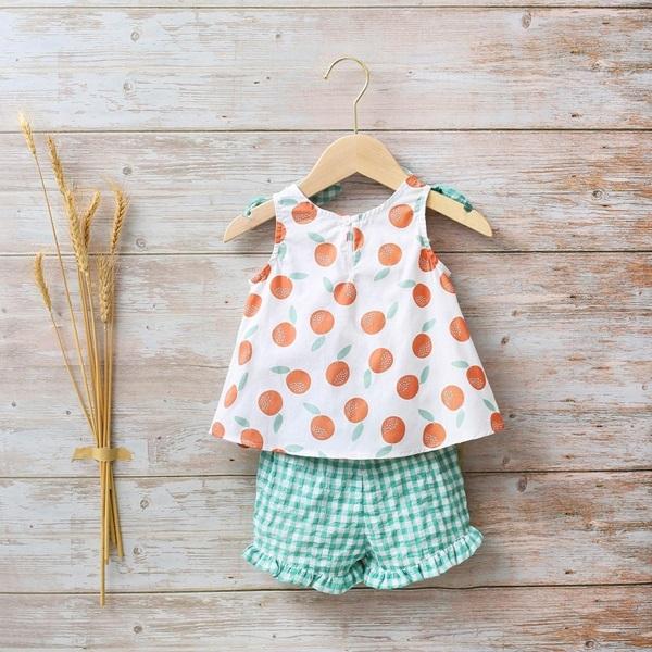 Imagen de Conjunto bebé niña blusa y pololo