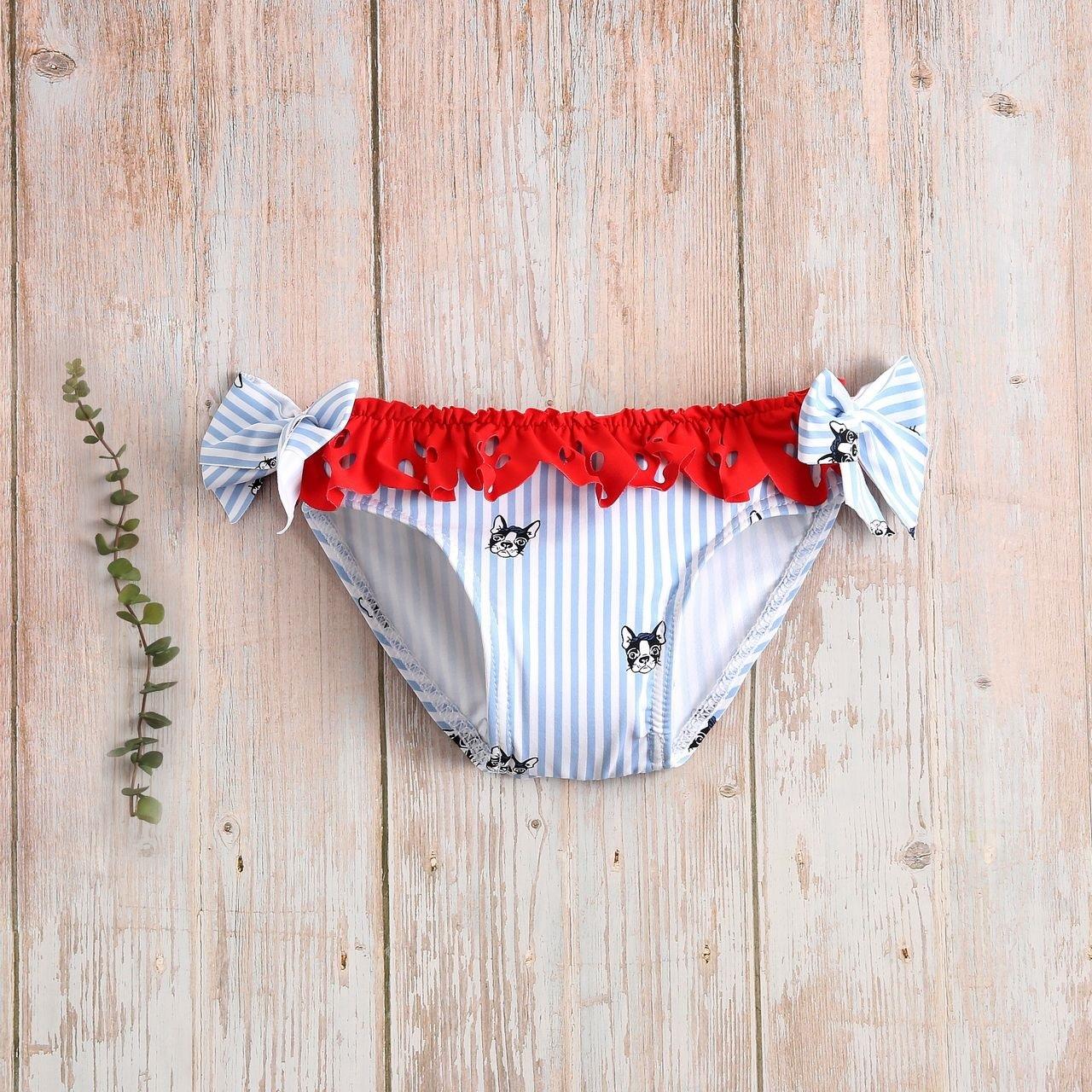 Imagen de Culetín bebé de perritos con rayas