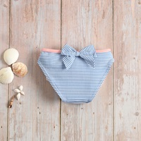 Picture of Culetín bebé niña de rayas azules y blancas