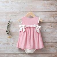 Imagen de Vestido bebé Dalía con lazos de estrellas