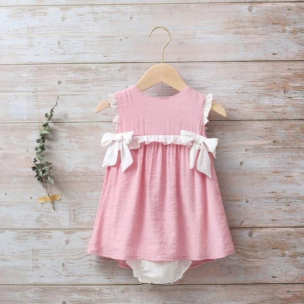 Image de Vestido bebé Dalía con lazos de estrellas