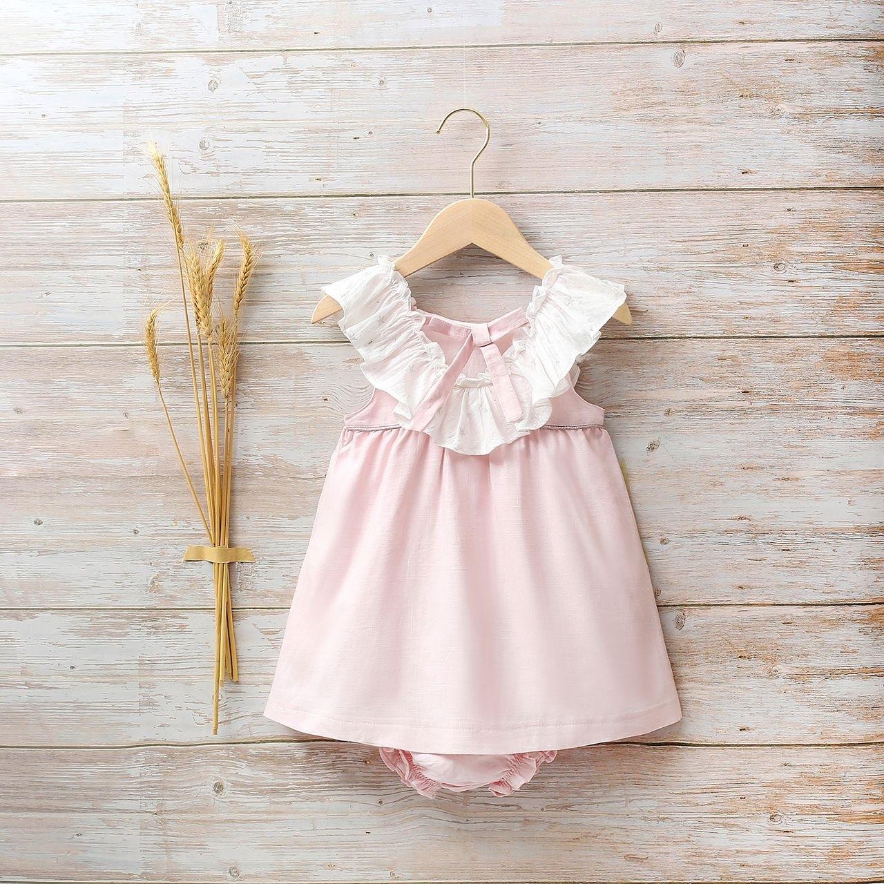 Imagen de Vestido bebé estrellas con volante de estrellas plateadas