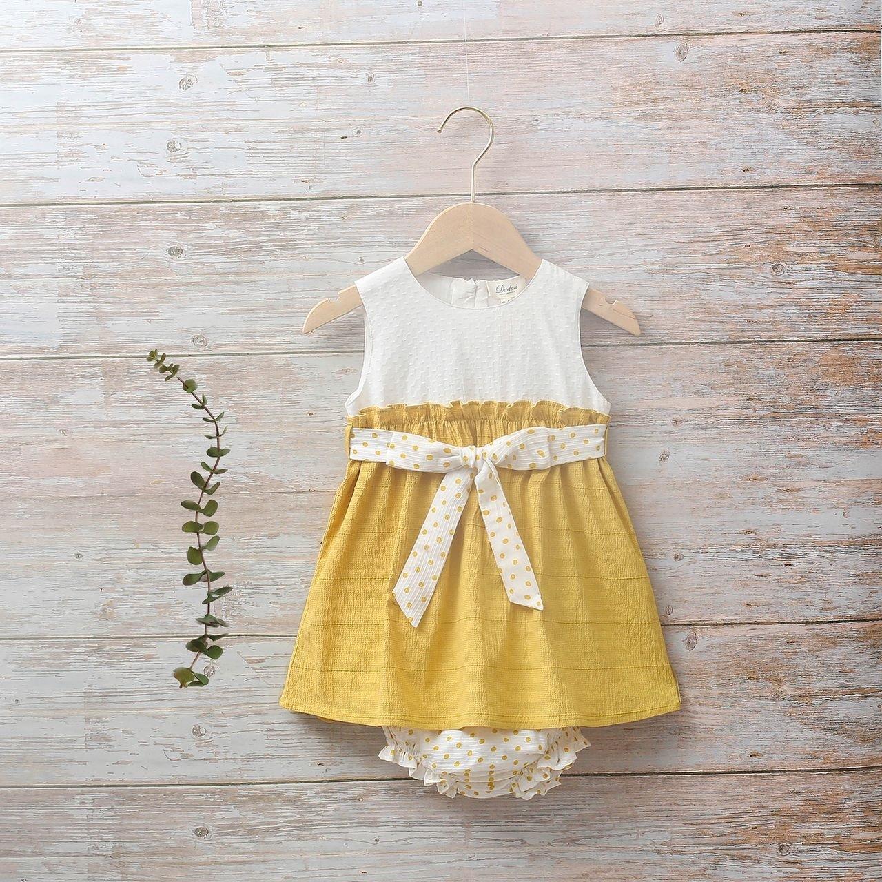 Image sur Vestido bebé Girasol mostaza