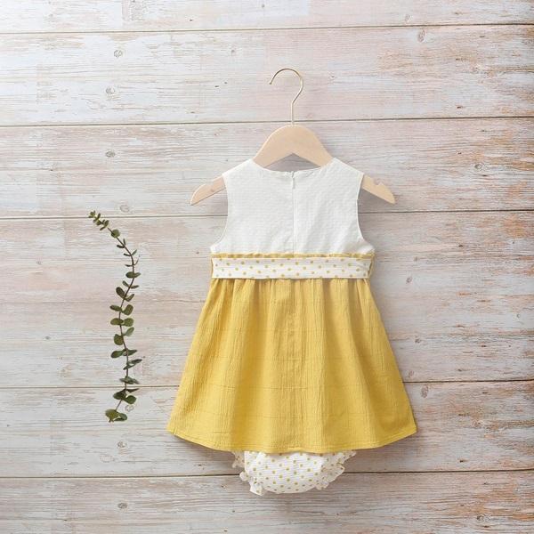 Image de Vestido bebé Girasol mostaza