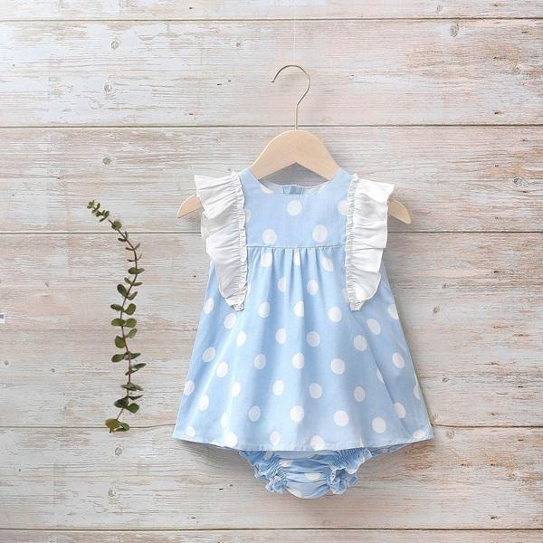 Image de Vestido bebé Hortensia de lunares
