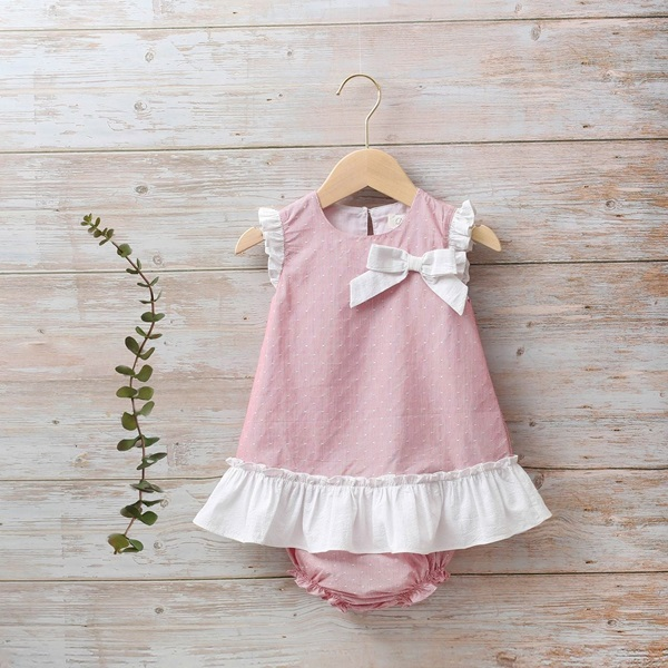 Imagen de Vestido bebé Náutico rojo