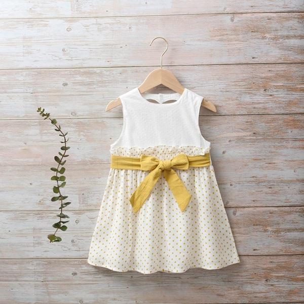 Imagen de Vestido niña girasol con corazón en espalda