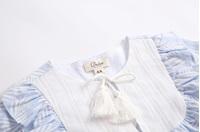 Imagen de Vestido niña paradise con hojas blancas