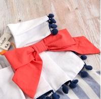 Imagen de Vestido niña náutica de rayas azul