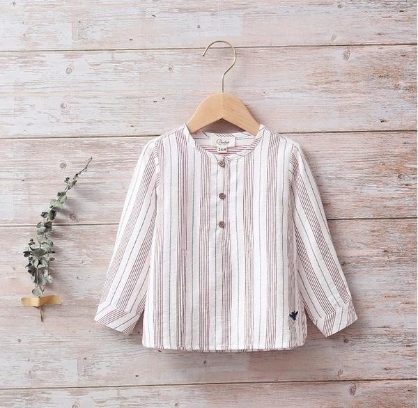 Image de Camisa bebé rayas y botones en laterales