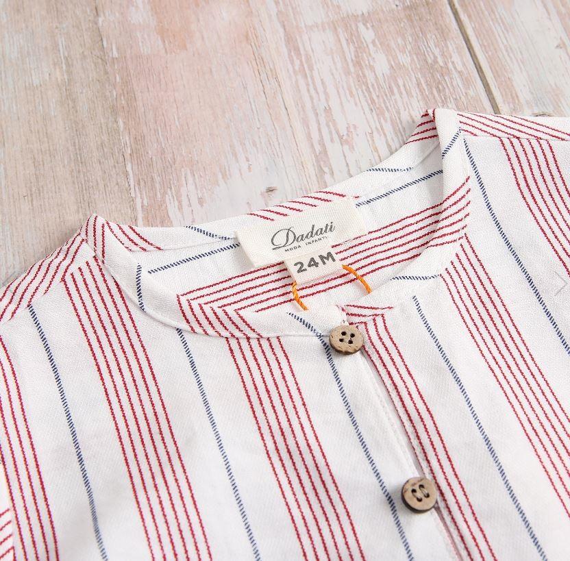 Imagen de Camisa bebé rayas y botones en laterales