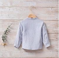 Imagen de Camisa bebé náutica de rayas azules y blancas