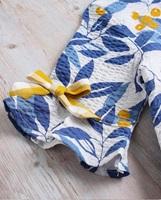 Picture of Conjunto bebé niña hojas azules
