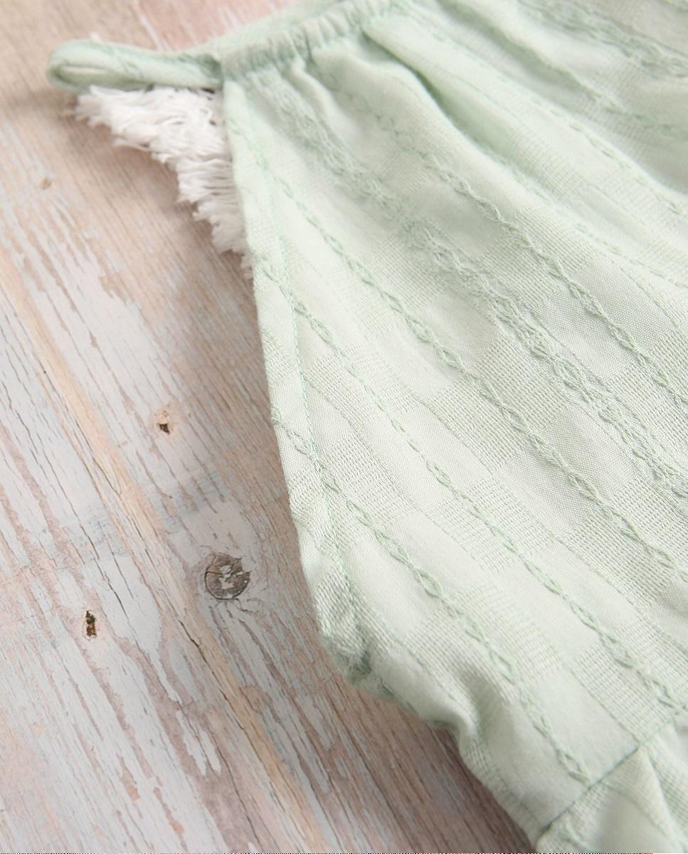 Image sur Vestido niña boho verde con flecos