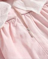 Imagen de Vestido bebé Cosmos de rayas rosas y blancas con volantes