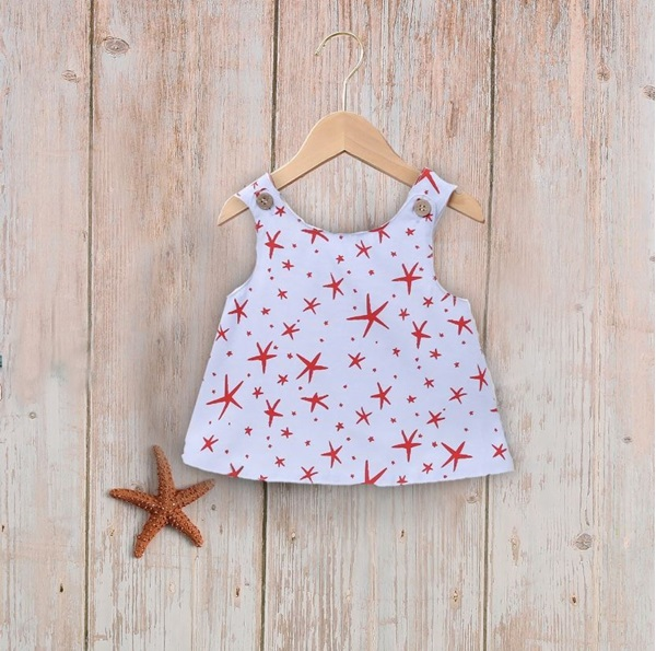 Imagen de Conjunto bebé niña jesusito estrellas de mar