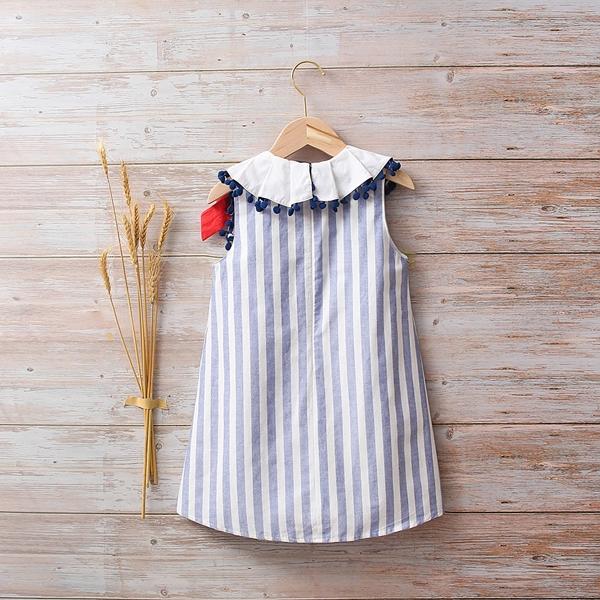 Image de Vestido bebé Náutica de rayas azules